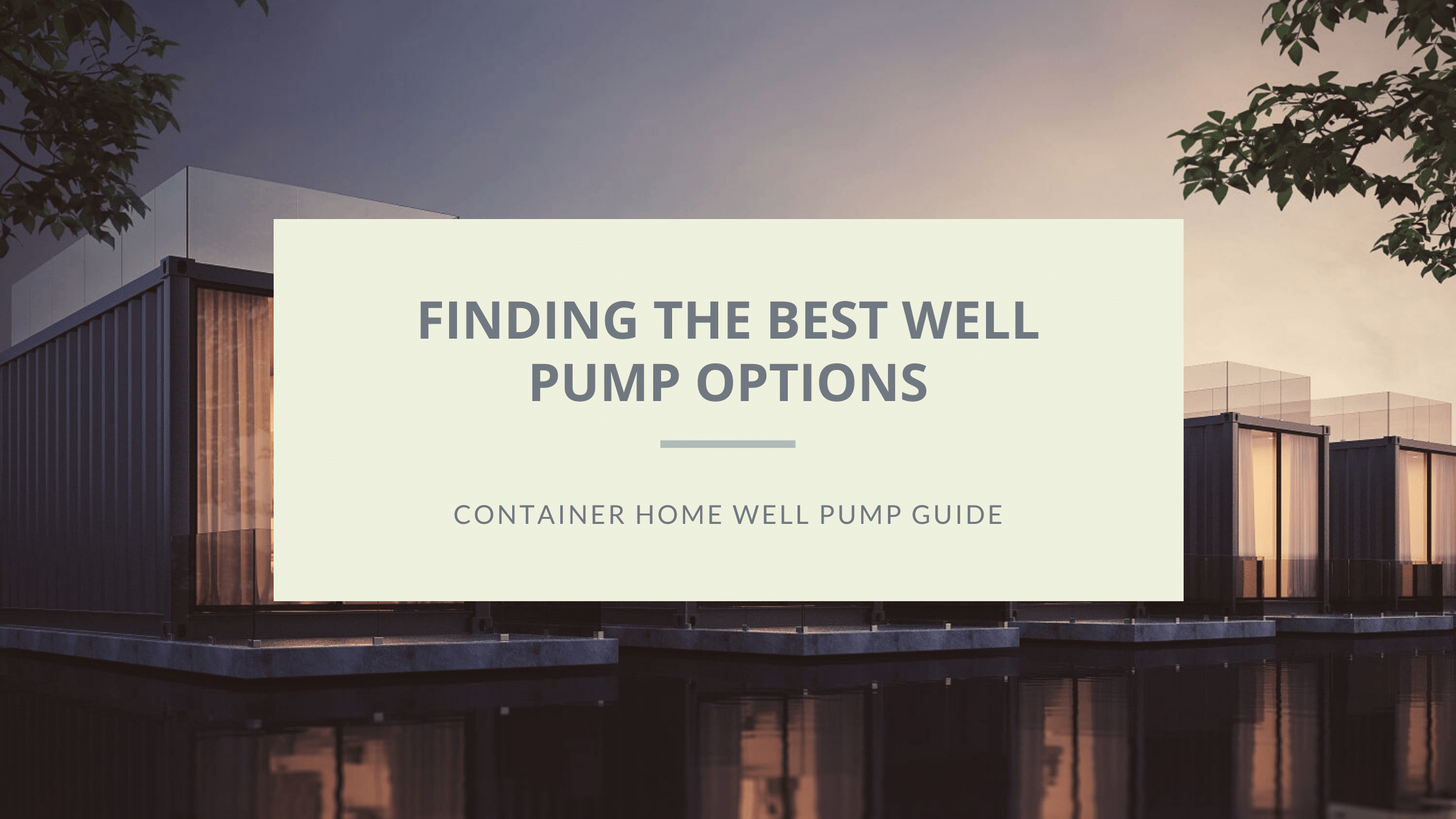 best well pump featured