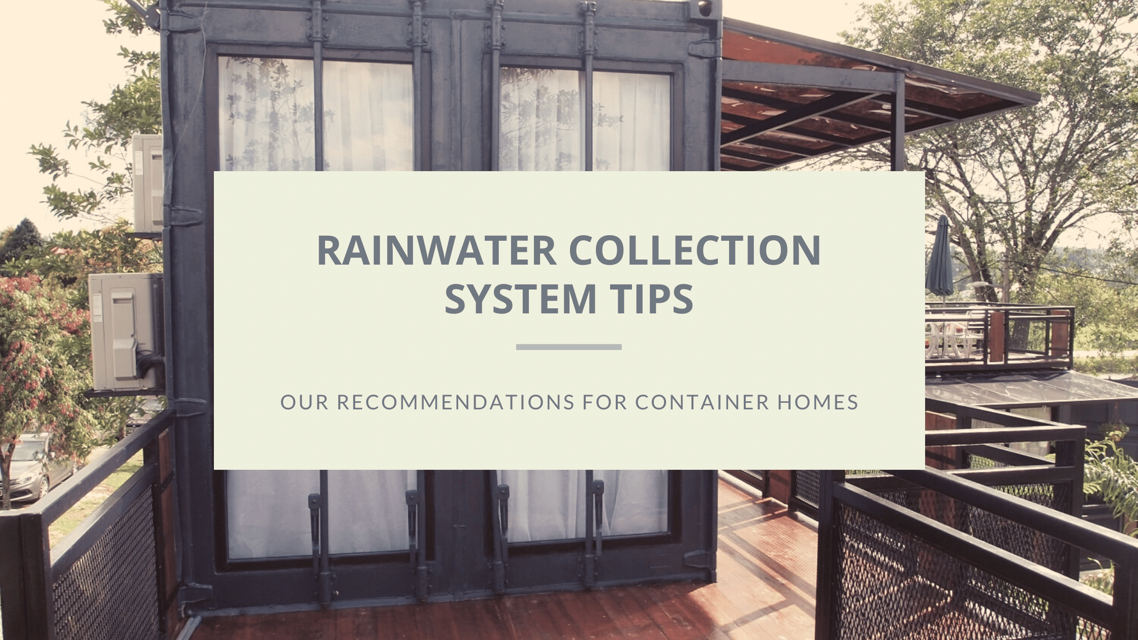 rainwater collection system featured